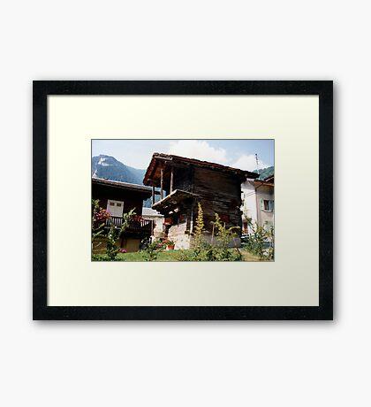 Ancient cottage Framed Print