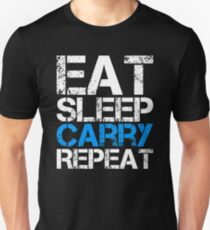 Eat Sleep Carry Repeat Unisex T-Shirt