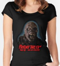 Jason Voorhees Friday the 13th Part 7 Women's Fitted Scoop T-Shirt
