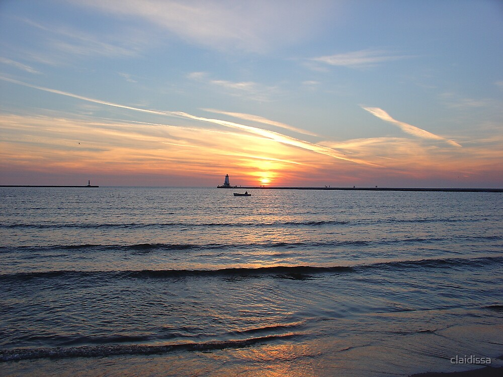 Lake Michigan Sunset by claidissa
