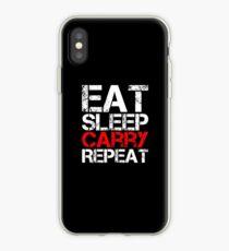 Eat Sleep Carry Repeat iPhone Case