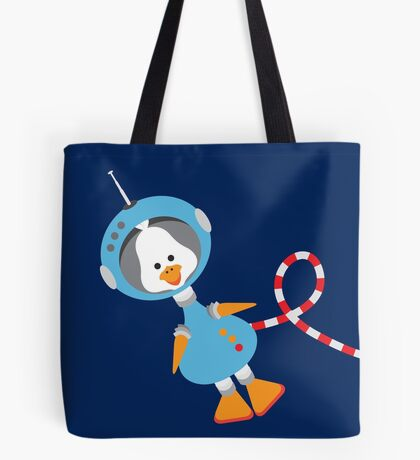 Duck In Space Tote Bag