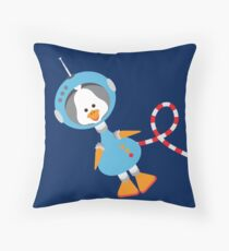 Duck In Space Throw Pillow
