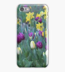 Spring Tulip Garden iPhone Case/Skin