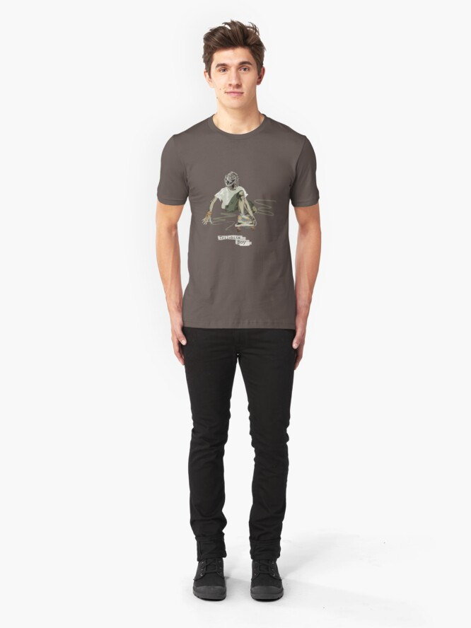 Alternate view of Trilobite Boy sk8 Slim Fit T-Shirt