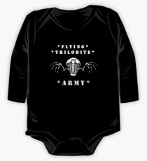 Flying Trilobite Army - white Long Sleeve Baby One-Piece