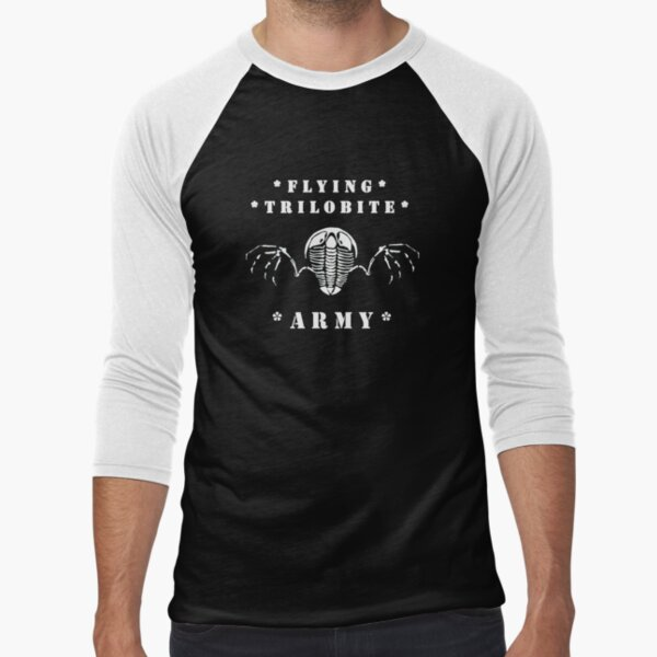 Flying Trilobite Army - white Baseball ¾ Sleeve T-Shirt
