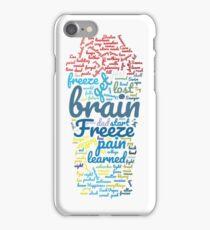 """Freeze Your Brain"" Word Cloud iPhone Case/Skin"