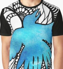 Sky Blue Bird Graphic T-Shirt