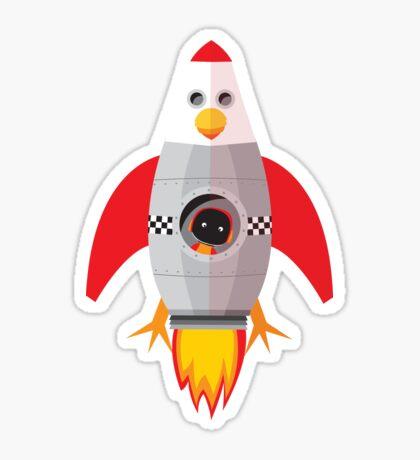 Chook Rocket Sticker