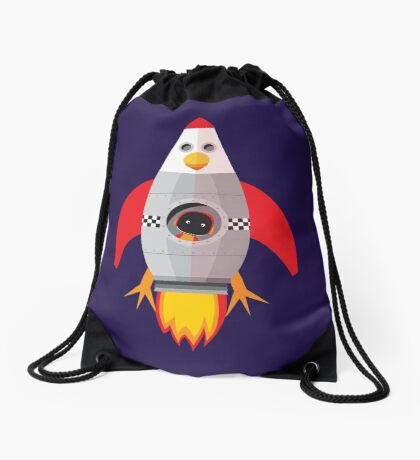 Chook Rocket Drawstring Bag