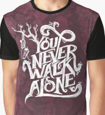 You Never Walk Alone - BTS - White Text (AESTHETIC on Pink) Graphic T-Shirt