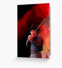 Red Hot Smokin' Fiddleman Greeting Card