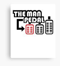 The Man Pedal black Canvas Print