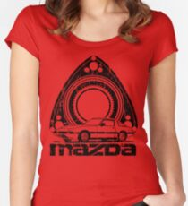 Distressed RX-7 Women's Fitted Scoop T-Shirt