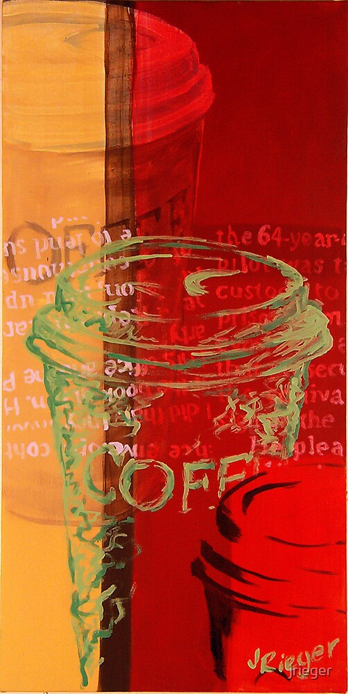 Three Coffee Cups One Green by jrieger