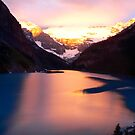 Sunset over Lake by Robert Blamey