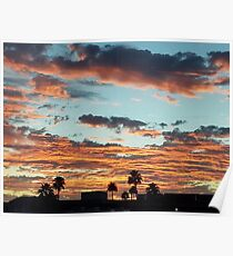 Intense Sunset Poster
