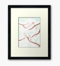 Simplistic Cherry Blossoms Framed Print