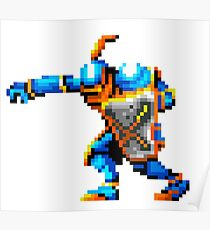 Pixel art of knight Poster