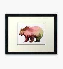Bear and Forest Art Framed Print