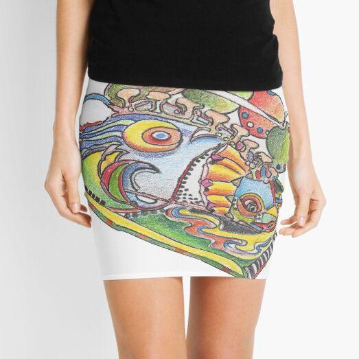 Fish a la Apple Mini Skirt