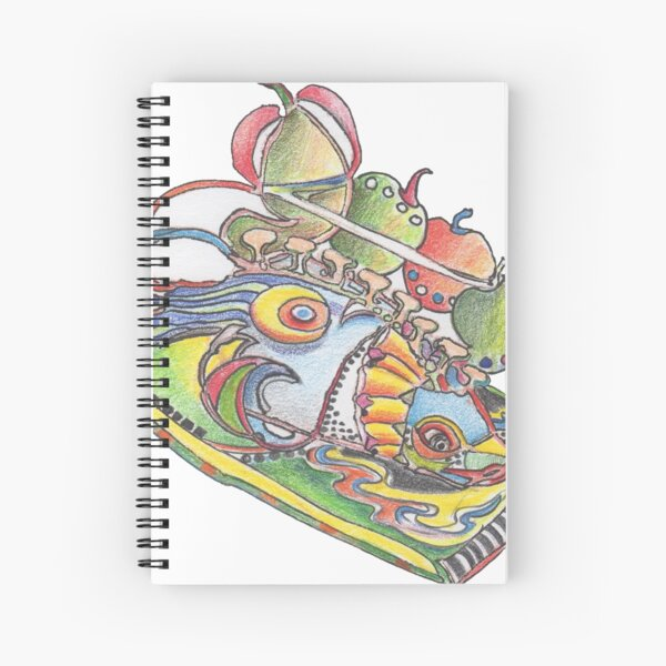 Fish a la Apple Spiral Notebook
