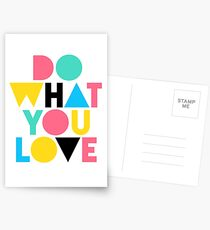 Do What You Love. Postcards