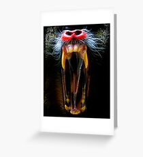 Mouth, Teeth, Bad, Nightmare, Monkey Greeting Card