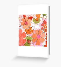Retro Summer Floral Greeting Card