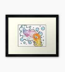 """""""Vibrance"""" Cuttlefish Colored Pencil Framed Print"""
