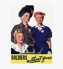 Soldiers Without Guns - Women War Workers - WW2 Photographic Print