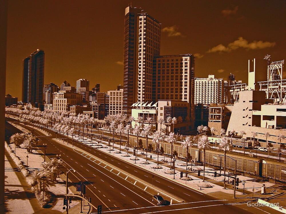 Downtown San Diego by Godservant