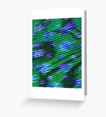 Abstraction ,Green, Blue, Mix, Aktual Greeting Card