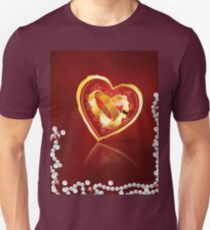 Card with wedding rings in heart T-Shirt