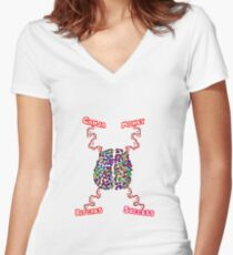 Real G's brain attraction Women's Fitted V-Neck T-Shirt