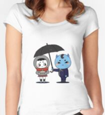 Goblin and His Bride (extra large) Women's Fitted Scoop T-Shirt