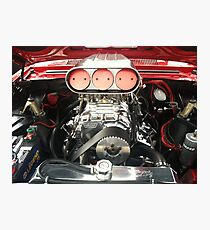 Red Chevy Engine Photographic Print