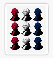 President George Washington - Red, White, and Blue Sticker