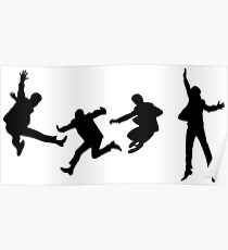The Beatles - Silhouette of jumping Poster