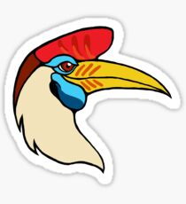 Suave Red Knobbed Hornbill Sticker
