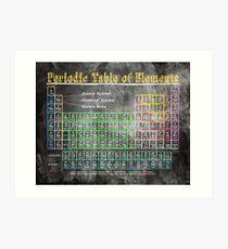 Old School Chalkboard Periodic Table Of Elements Art Print