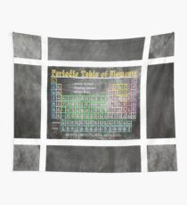 Old School Chalkboard Periodic Table Of Elements Wall Tapestry