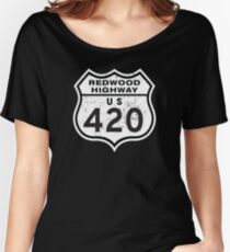 Redwood HIGHway US 420 California Women's Relaxed Fit T-Shirt