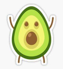 Shocked Avocado Sticker