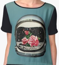 Spring Crop at the Rosseland Crater Chiffon Top