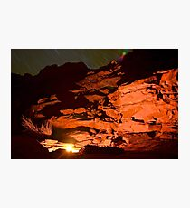 Fire Under the Stars Photographic Print