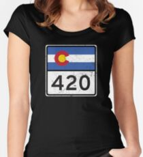 Colorado HIGHway 420 Women's Fitted Scoop T-Shirt
