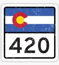Colorado HIGHway 420 Sticker