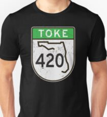 Toke HIGHway 420 Florida  Unisex T-Shirt